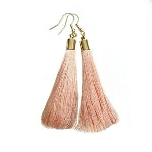 3/$30 // Long Apricot Tassel Statement Earrings
